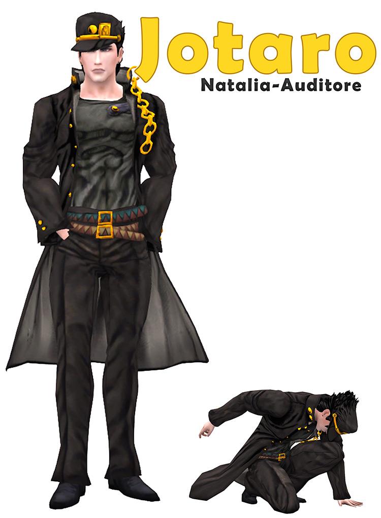 Jotaro Outfit Sims 4 CC