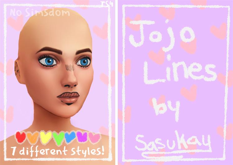 Jojo Lines Sims 4 CC