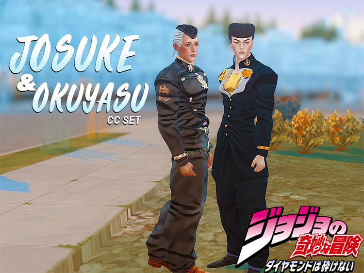 Josuke & Okuyasu CC Set for Sims 4