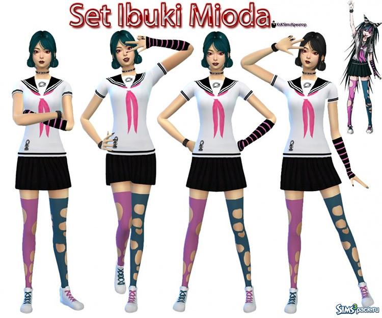 Ibuki Mioda Set Sims 4 CC