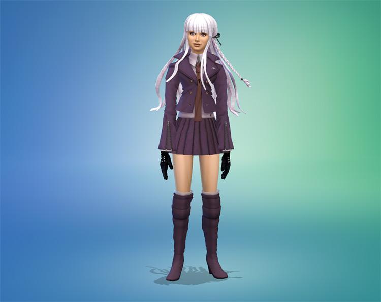 Kyoko Kirigiri Sims 4 CC screenshot