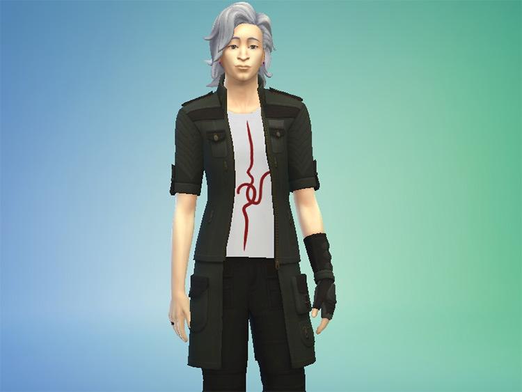 Nagito Komaeda's Outfit Sims 4 CC
