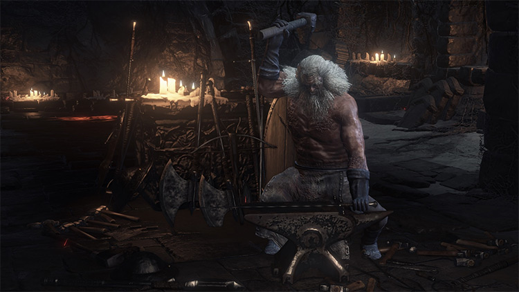 Blacksmith Andre Dark Souls 3 character