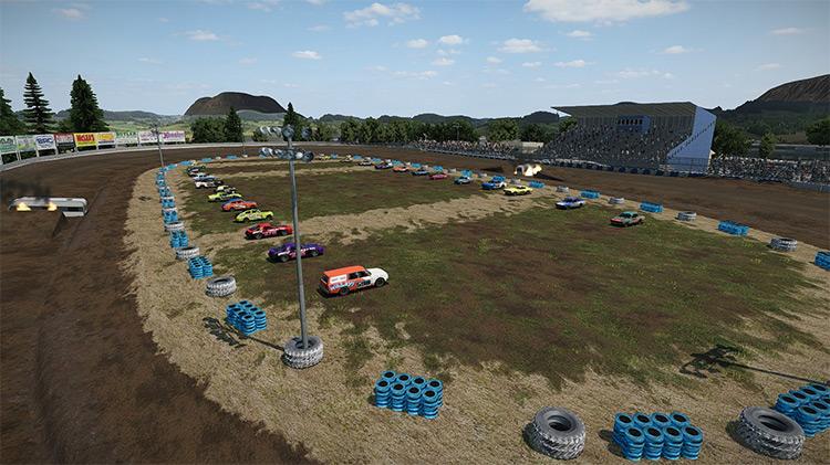 Petaluma Speedway Wreckfest mod screenshot