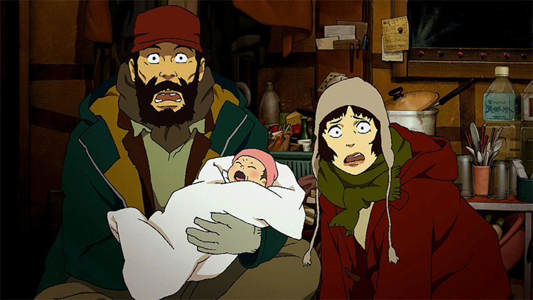 Tokyo Godfathers anime by Studio Madhouse