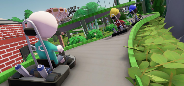 Parkitect go karts gameplay screenshot