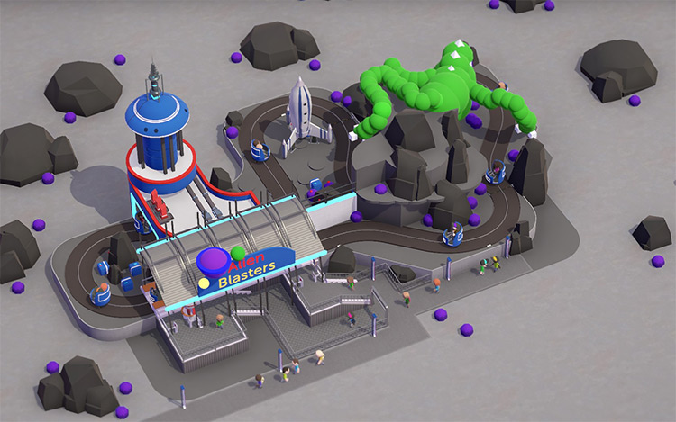 Alien Blasters Parkitect Mod