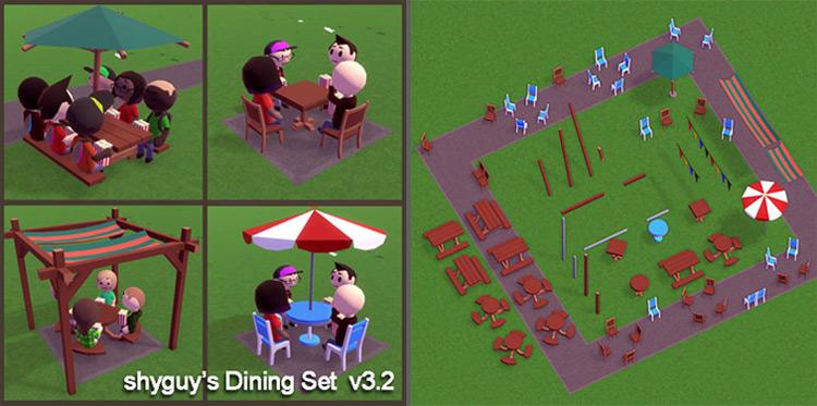 shyguy's Dining Set Parkitect Mod