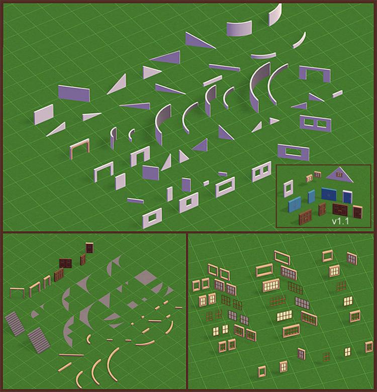 shyguy's Building Set 1 Parkitect Mod