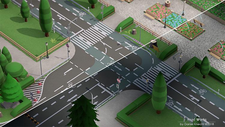 RoadWorks Mod for Parkitect