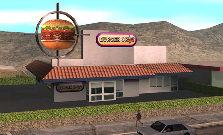 Burger Shot GTA SA property