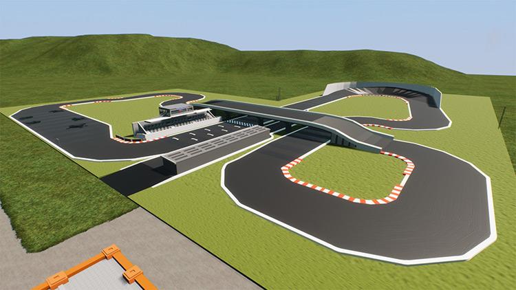 ZigZag Raceway Brick Rigs Mod