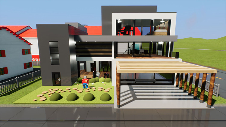 Big Modern House Brick Rigs Mod