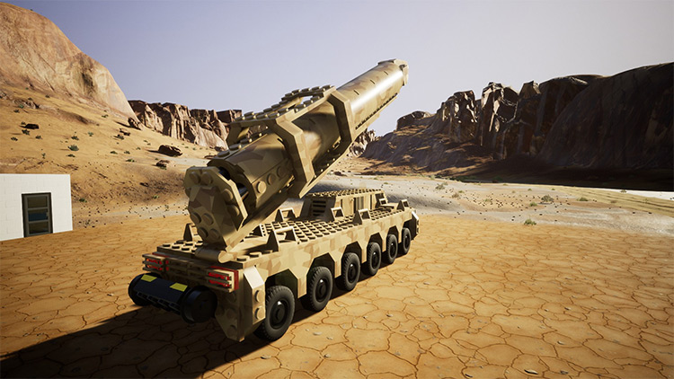 Nuclear Missile Truck Brick Rigs Mod
