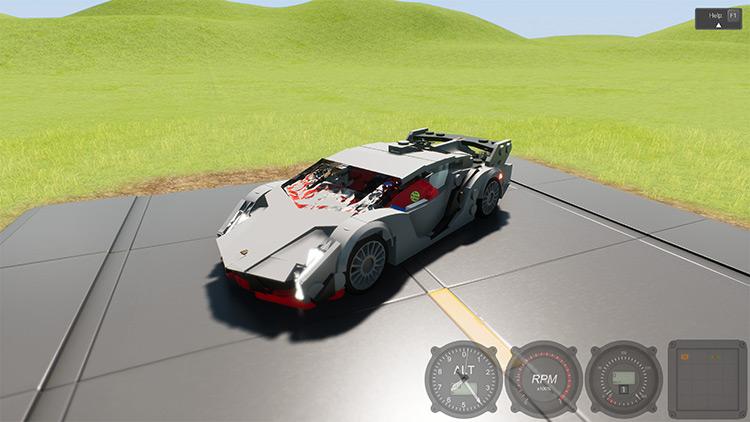Lamborghini Veneno Mod for Brick Rigs