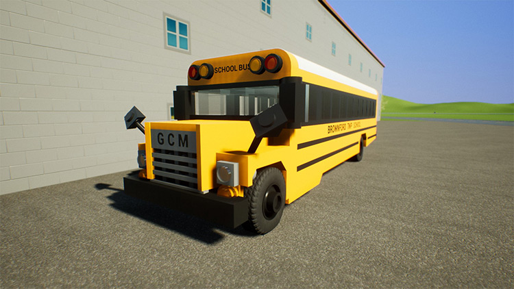 1975 GCM G-7 School Bus Brick Rigs Mod