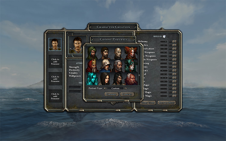 Portrait Pack - Curated 260 Legend of Grimrock II Mod