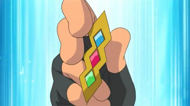 Trio Badge Pokémon anime screenshot