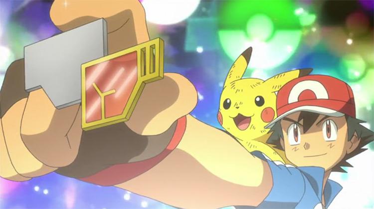 Rumble Badge in Pokémon anime