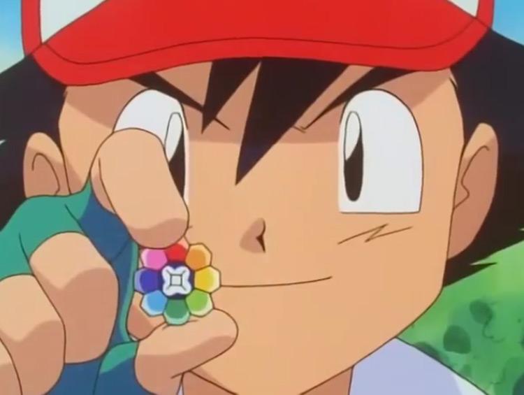 Rainbow Badge Pokémon anime screenshot