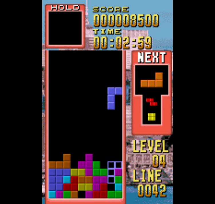 Tetris WonderSwan gameplay screenshot