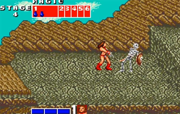 Golden Axe WonderSwan game screenshot