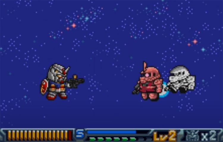 SD Gundam Operation U.C. WonderSwan gameplay