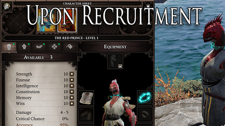 Custom character building mod preview