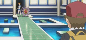 Red vs Misty Gym Battle in Pokemon Origins Anime