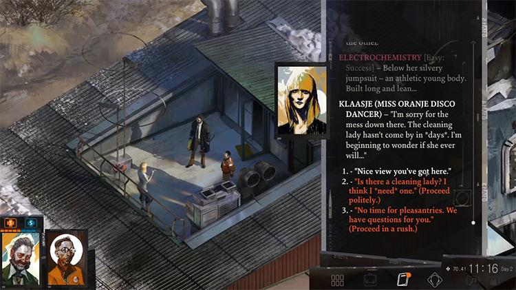 Disco Elysium gameplay PS4