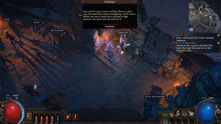 Path of Exile gameplay PS4