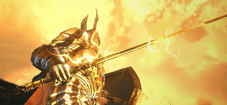 Modded Silver Knight Straightsword in Dark Souls 3
