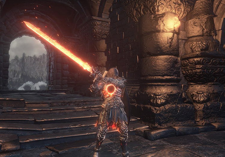 Ringed Knight Straight DS3 sword