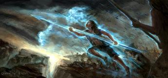 Battle spear digital painting fanart