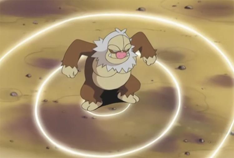 Slaking in the Pokemon anime