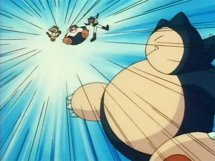 Snorlax battle in Pokemon anime
