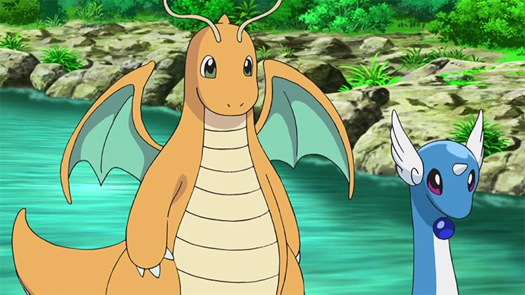 Dragonite with Dragonair - Pokemon anime