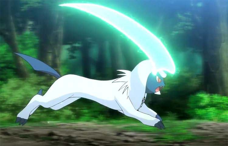 Absol in the Pokemon anime