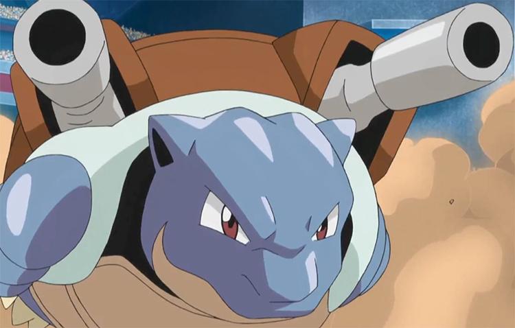 Blastoise in the Pokemon anime