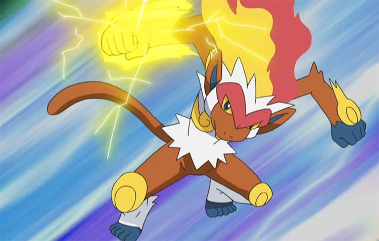 Infernape Thunderpunch - Pokemon Anime screenshot