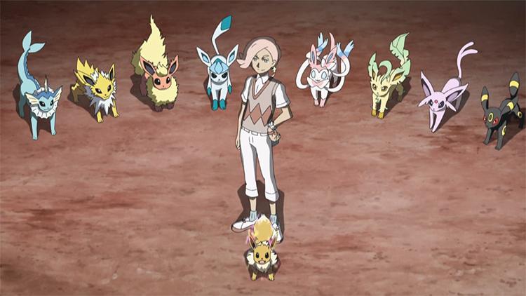 Eeveelutions in the Pokemon anime with Ilima