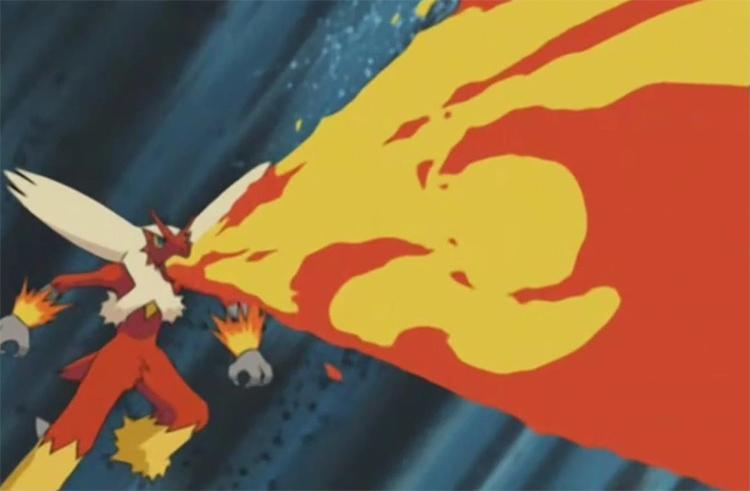Blaziken in Pokemon anime