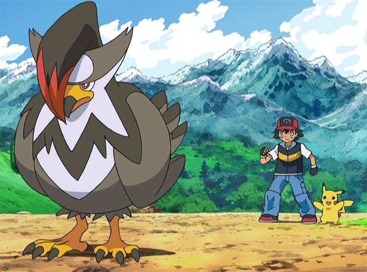 Staraptor in Pokemon anime