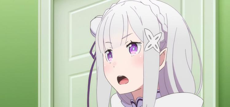 Emilia Re:Zero elf character in anime