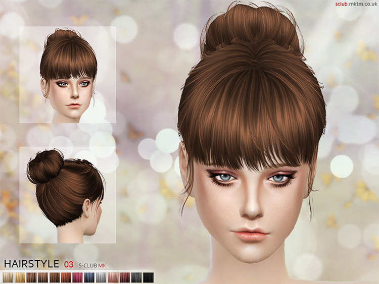 Sims 4 - Hair N3 CC Wedding