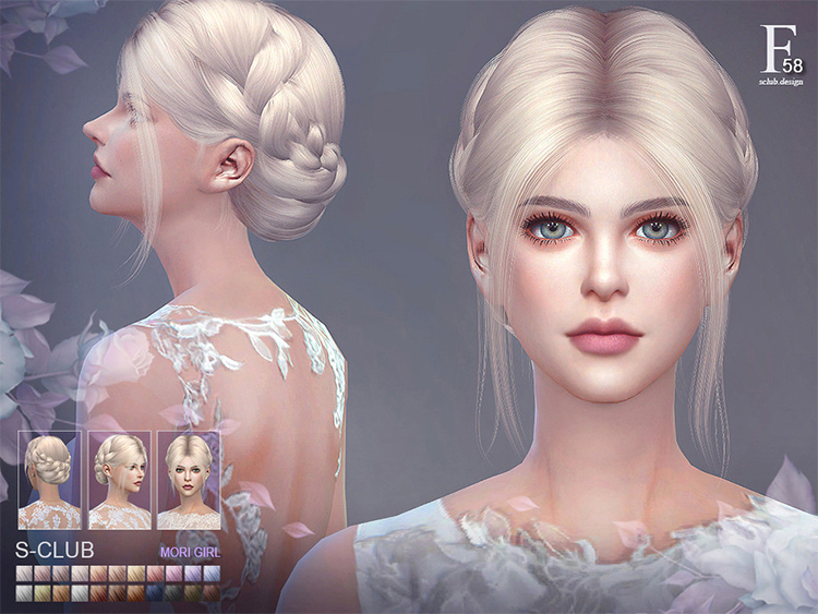 Audrey hair for Sims 4 CC