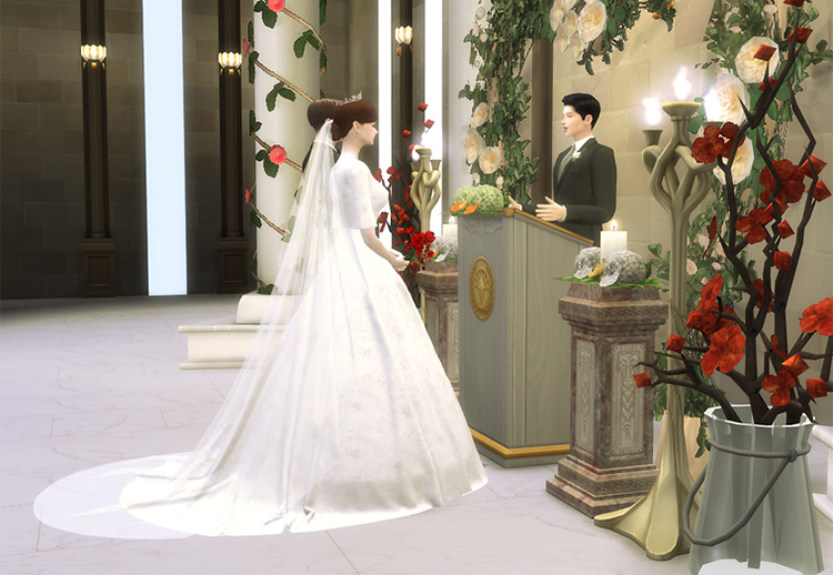 Lena Wedding Veil TS4 CC