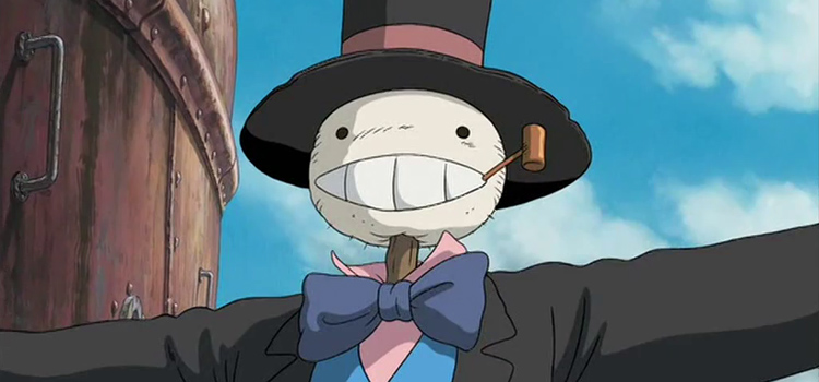Scarecrow Turnip Head Anime Character in Howls Moving Castle