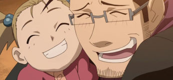Maes Hughes - Dad with his Daughter in FMA Anime