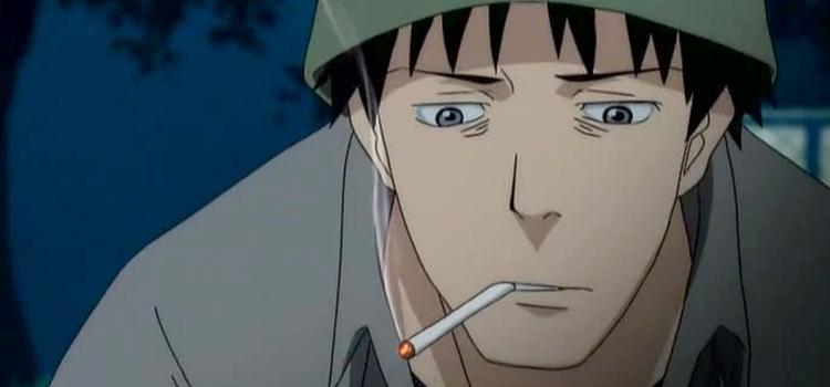 Tatsuhiro Welcome to the NHK - Smoking a cigarette screenshot